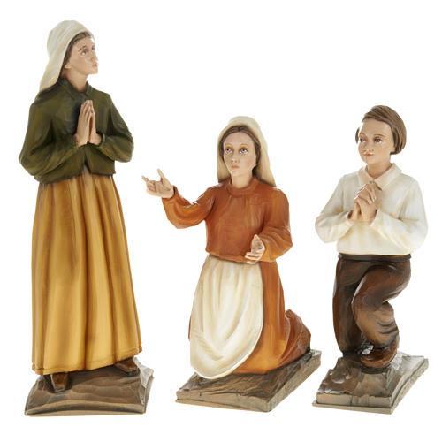 Tres pastores de Fátima en mármol sintético 1