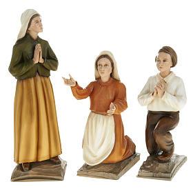 Pastorelli di Fatima 3 statue marmo sintetico 35 cm s1