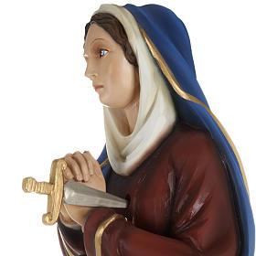 Statua Addolorata mani giunte 80 cm fiberglass s3