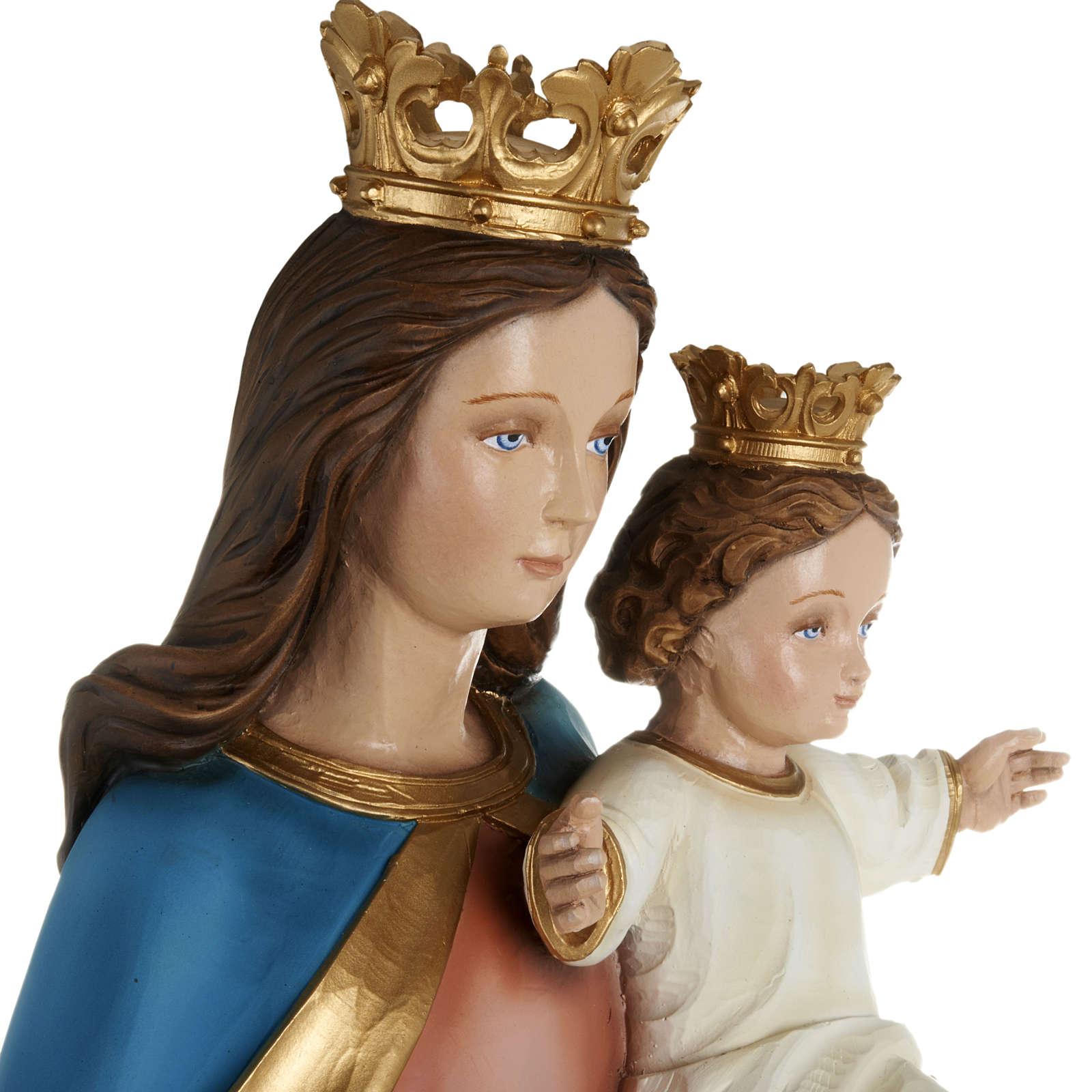Statue Marie Auxiliatrice avec enfant 80 cm fibre de verre 4