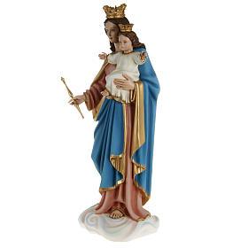 Statue Marie Auxiliatrice avec enfant 80 cm fibre de verre s9