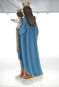 Statue Marie Auxiliatrice avec enfant 80 cm fibre de verre s11