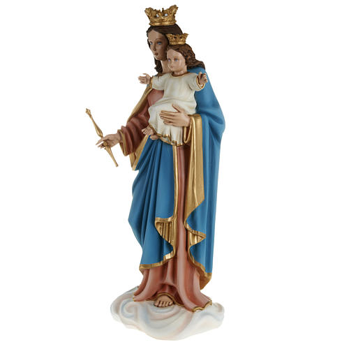 Statue Marie Auxiliatrice avec enfant 80 cm fibre de verre 9