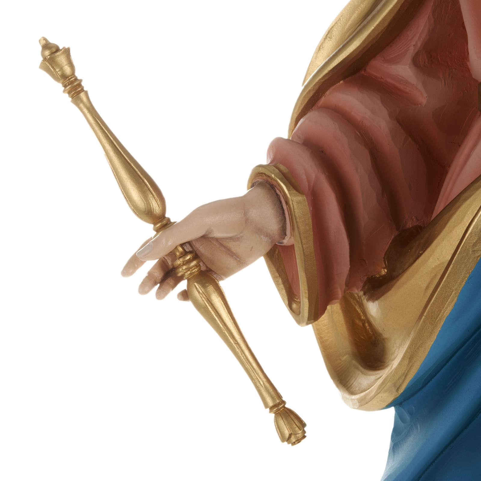 Statua Maria Ausiliatrice con bambino 80 cm fiberglass 4