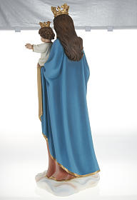 Statua Maria Ausiliatrice con bambino 80 cm fiberglass s11