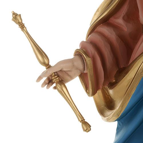 Statua Maria Ausiliatrice con bambino 80 cm fiberglass 5