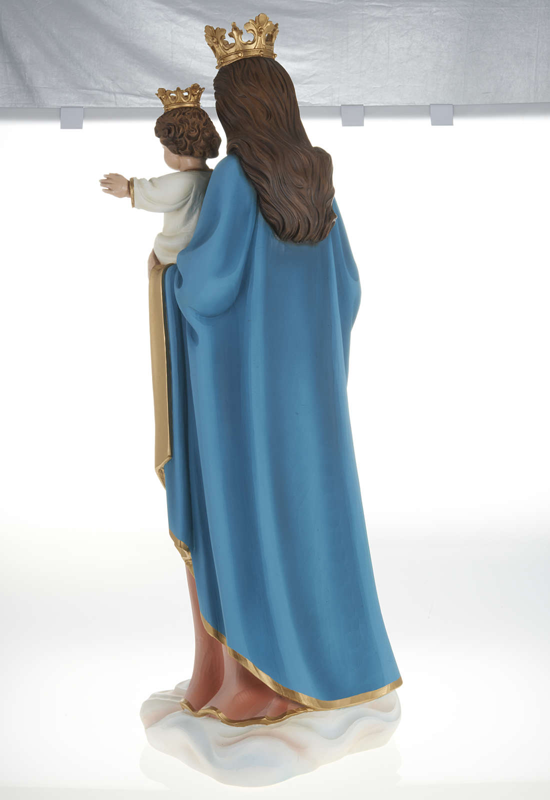 Mary queen of heaven with infant Jesus,fiberglass statue 80 cm 4