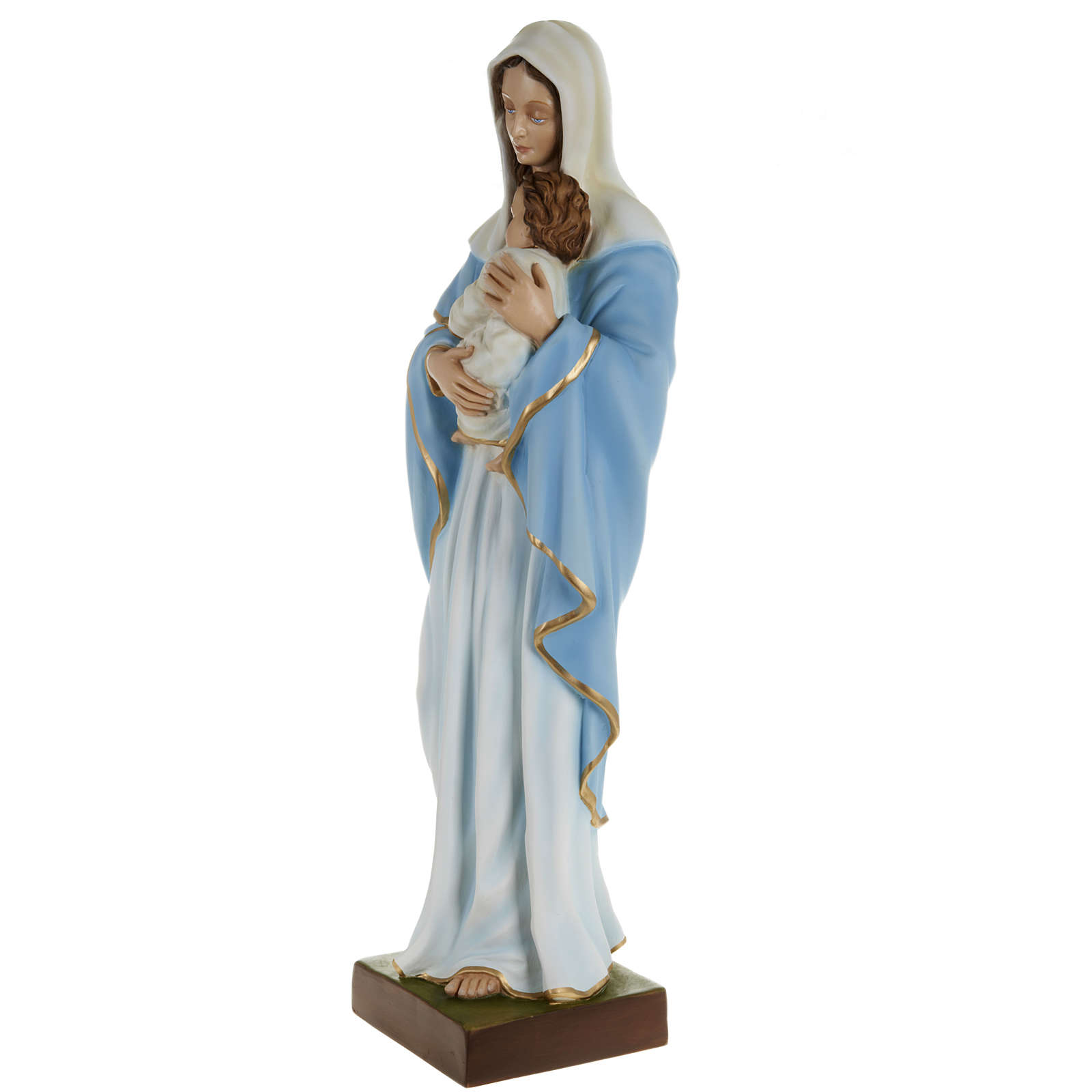 Estatua de la Virgen con el Niño en el pecho 80 cm 4
