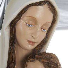 Estatua de la Virgen con el Niño en el pecho 80 cm s5