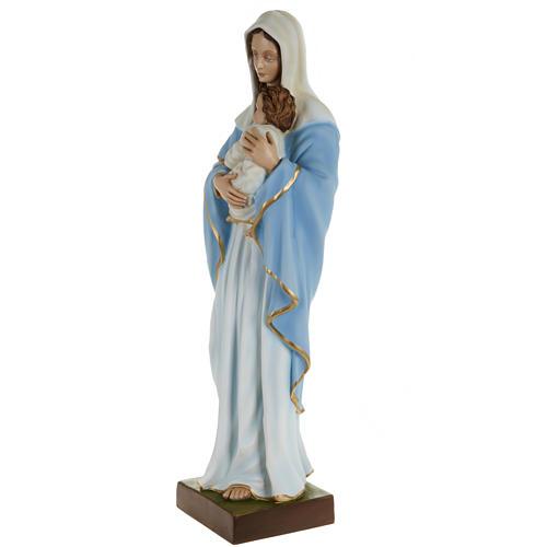 Estatua de la Virgen con el Niño en el pecho 80 cm 7