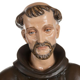 San Francesco con colombe fiberglass 100 cm