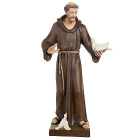 St Francis with dove fiberglass statue 80 cm s1