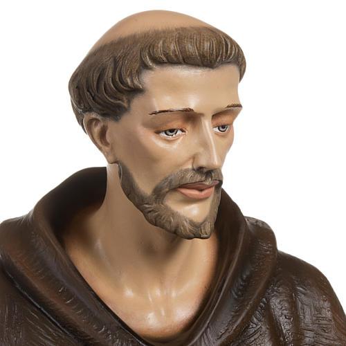 St Francis with dove fiberglass statue 80 cm 4