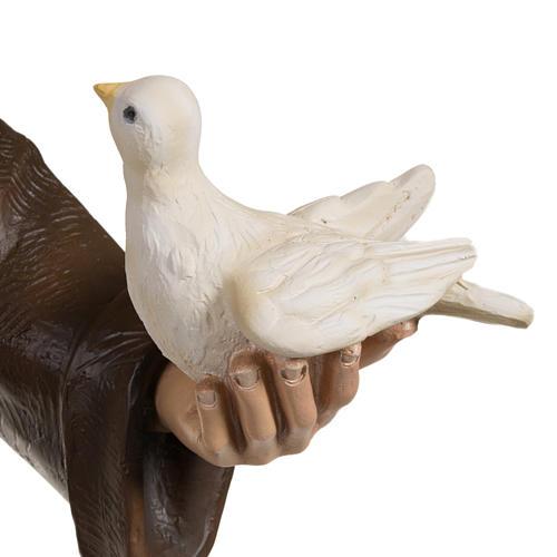 San Francisco con palomas 80 cm en fibra de vidrio 3