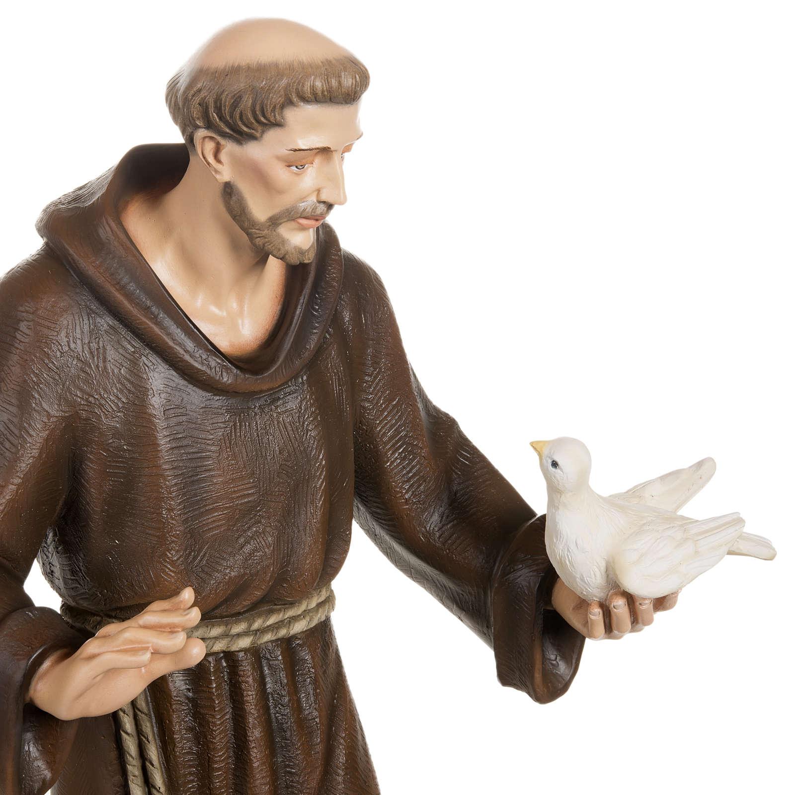 San Francesco con colombe 80 cm fiberglass 4