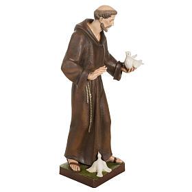 San Francesco con colombe 80 cm fiberglass s8