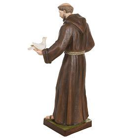 San Francesco con colombe 80 cm fiberglass s9