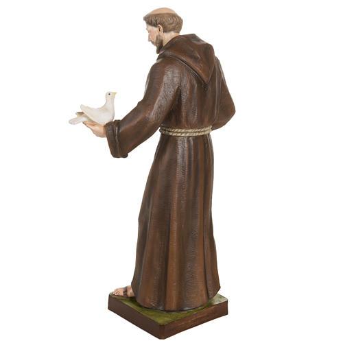 San Francesco con colombe 80 cm fiberglass 9