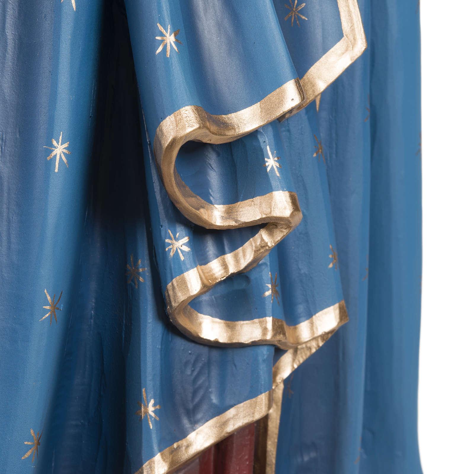 Virgen con el Niño manto azul  85 cm fibra de vidrio 4