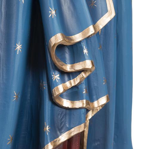 Virgen con el Niño manto azul  85 cm fibra de vidrio 6