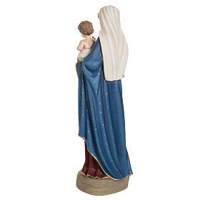 Madonna con bimbo manto blu rosso fiberglass 85 cm s10
