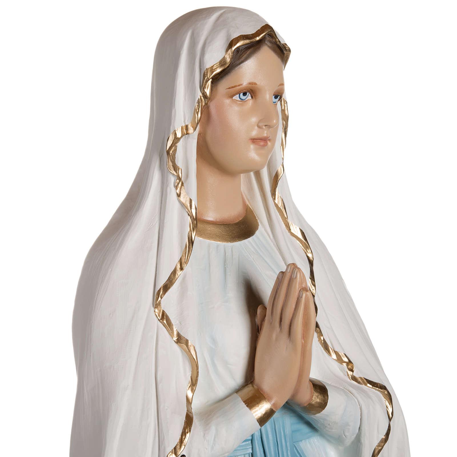 Nuestra Señora de Lourdes 130 cm en fibra de vidrio 4