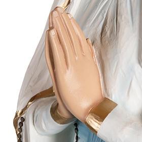 Nuestra Señora de Lourdes 130 cm en fibra de vidrio s8