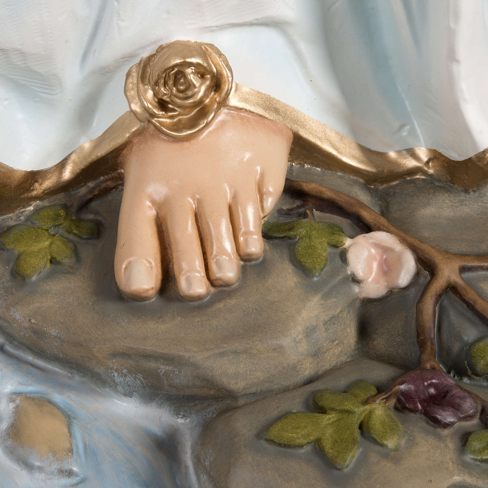 Madonna di Lourdes vetroresina 130 cm 4