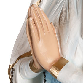 Madonna di Lourdes vetroresina 130 cm s8