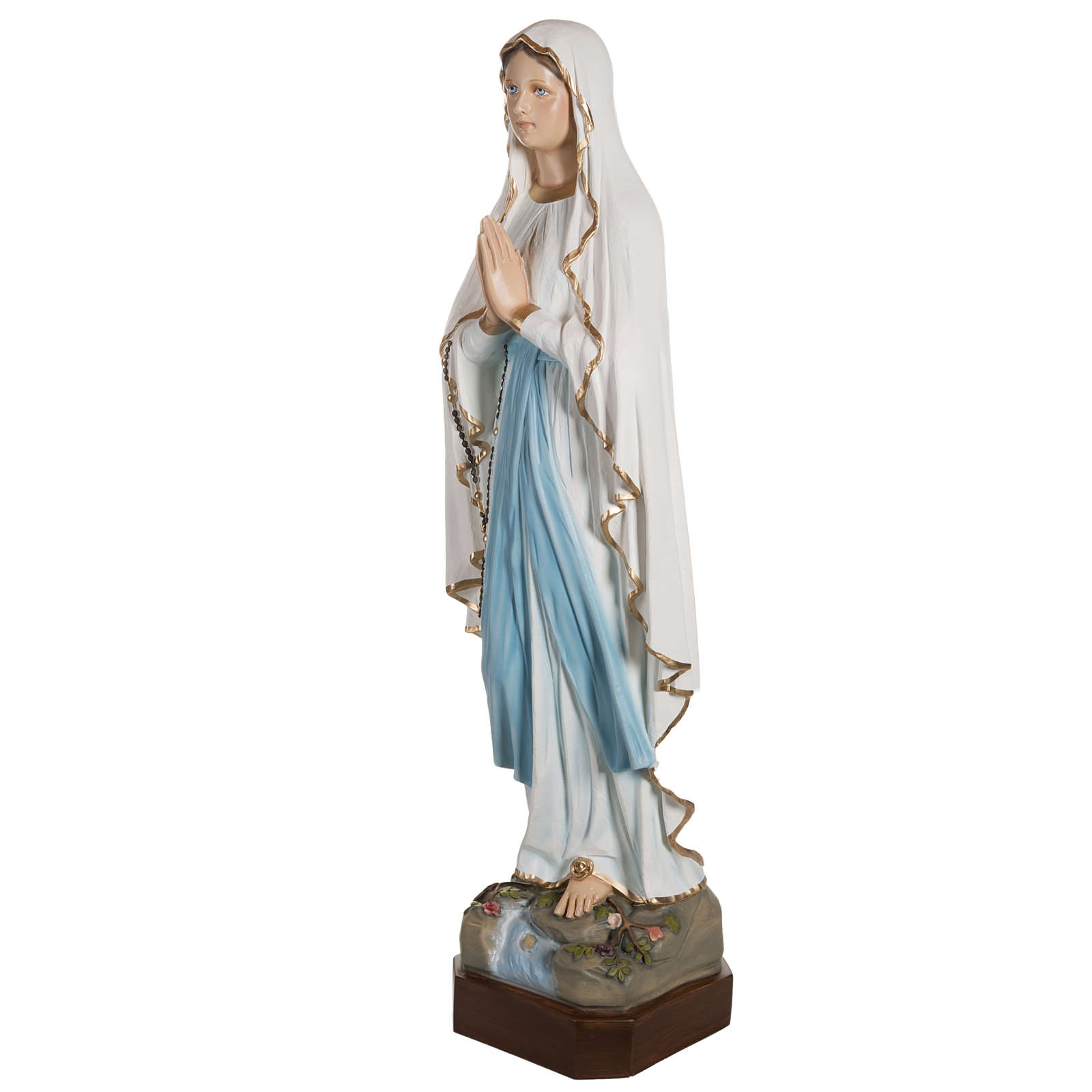 Our Lady of Lourdes fiberglass statue 130 cm 4
