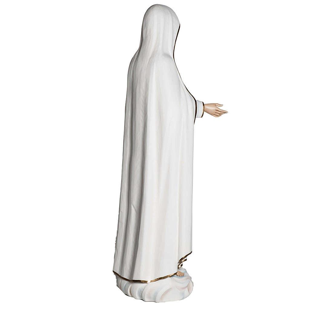 Virgen de Fátima 120 cm en fibra de vidrio 4