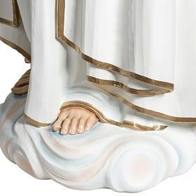 Virgen de Fátima 120 cm en fibra de vidrio s9