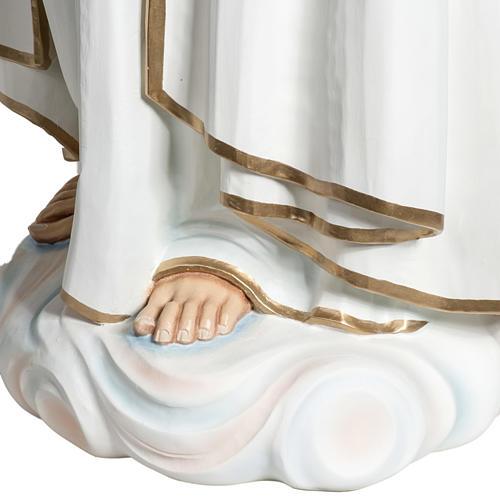 Virgen de Fátima 120 cm en fibra de vidrio 9