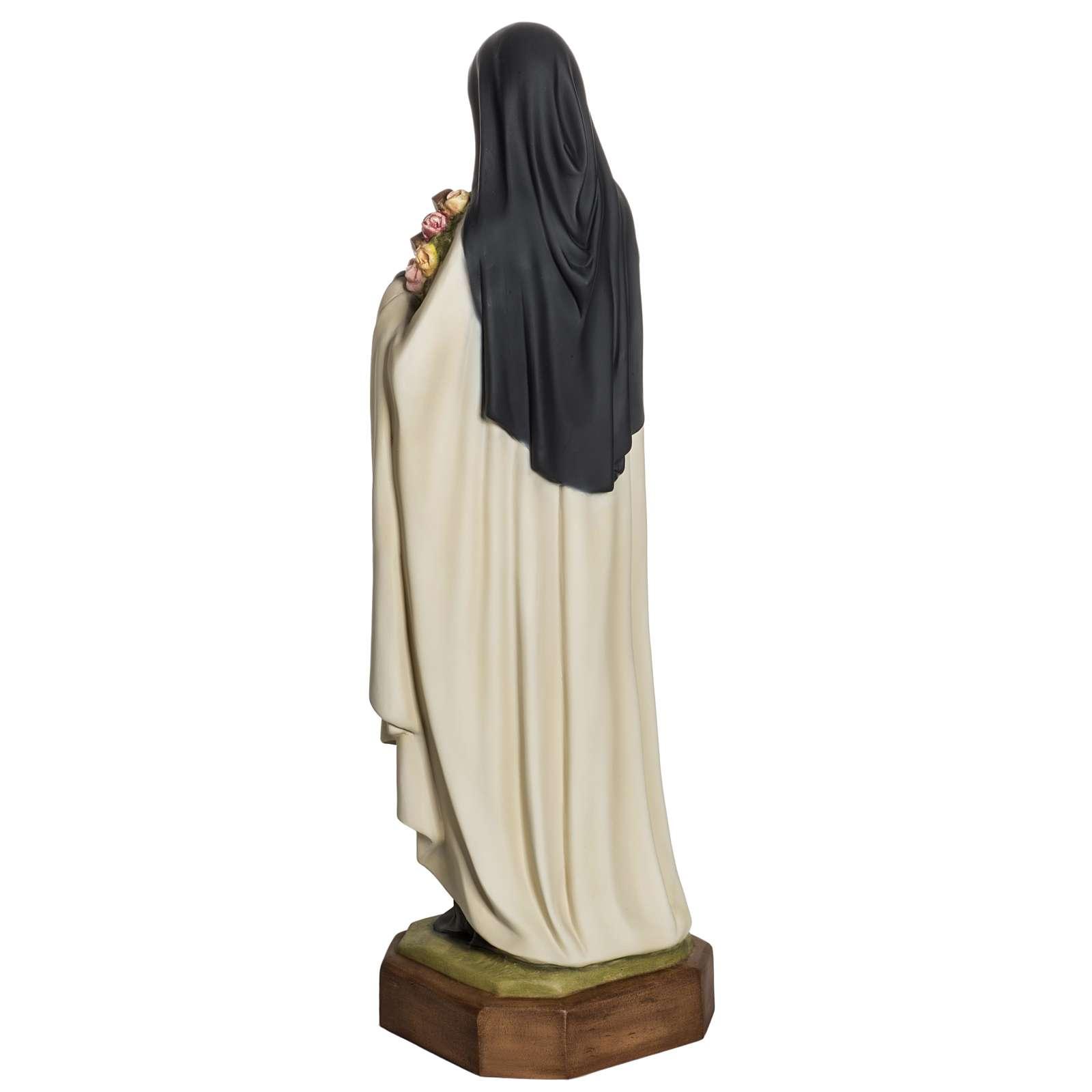Santa Teresa de Lisieux 80cm en fibra de vidrio 4