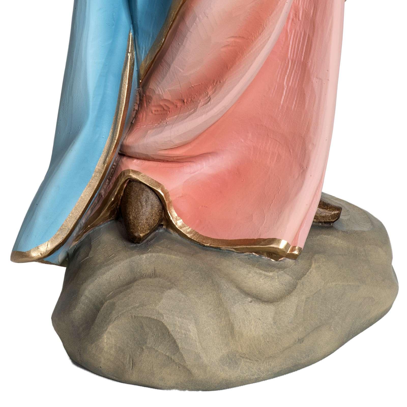 Virgen con Niño 60 cm fibra de vidrio 4