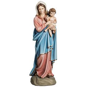 Virgen con Niño 60 cm fibra de vidrio s1