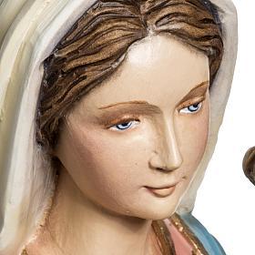 Virgen con Niño 60 cm fibra de vidrio s5