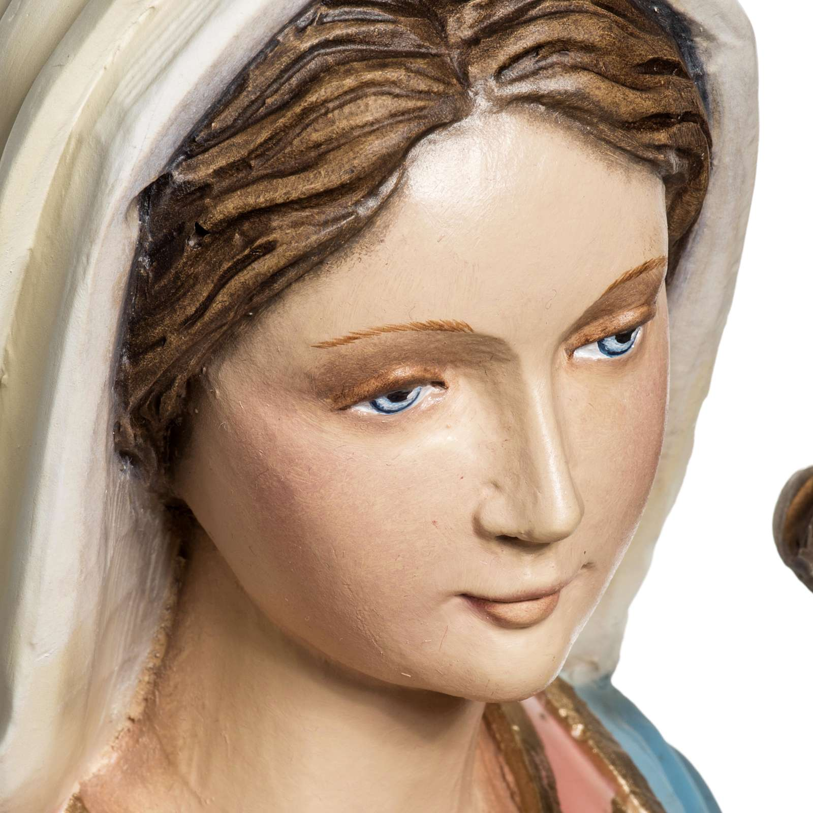 Vierge à l'enfant 60 cm figre de verre 4