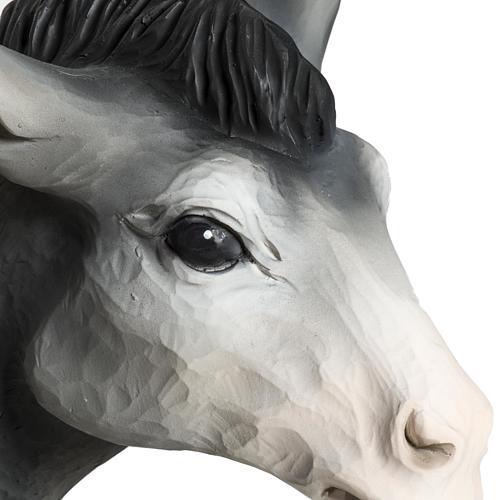 Boeuf et âne crèche Noel fibre de verre 60 cm 5