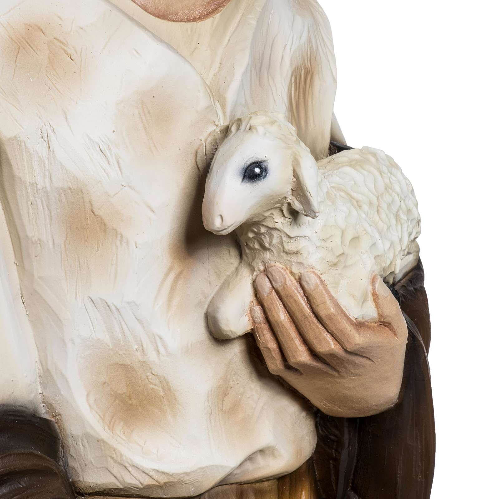 Berger avec agneau crèche Noel 60 cm fibre de verre 4