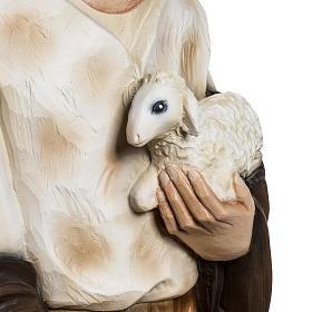 Berger avec agneau crèche Noel 60 cm fibre de verre s3