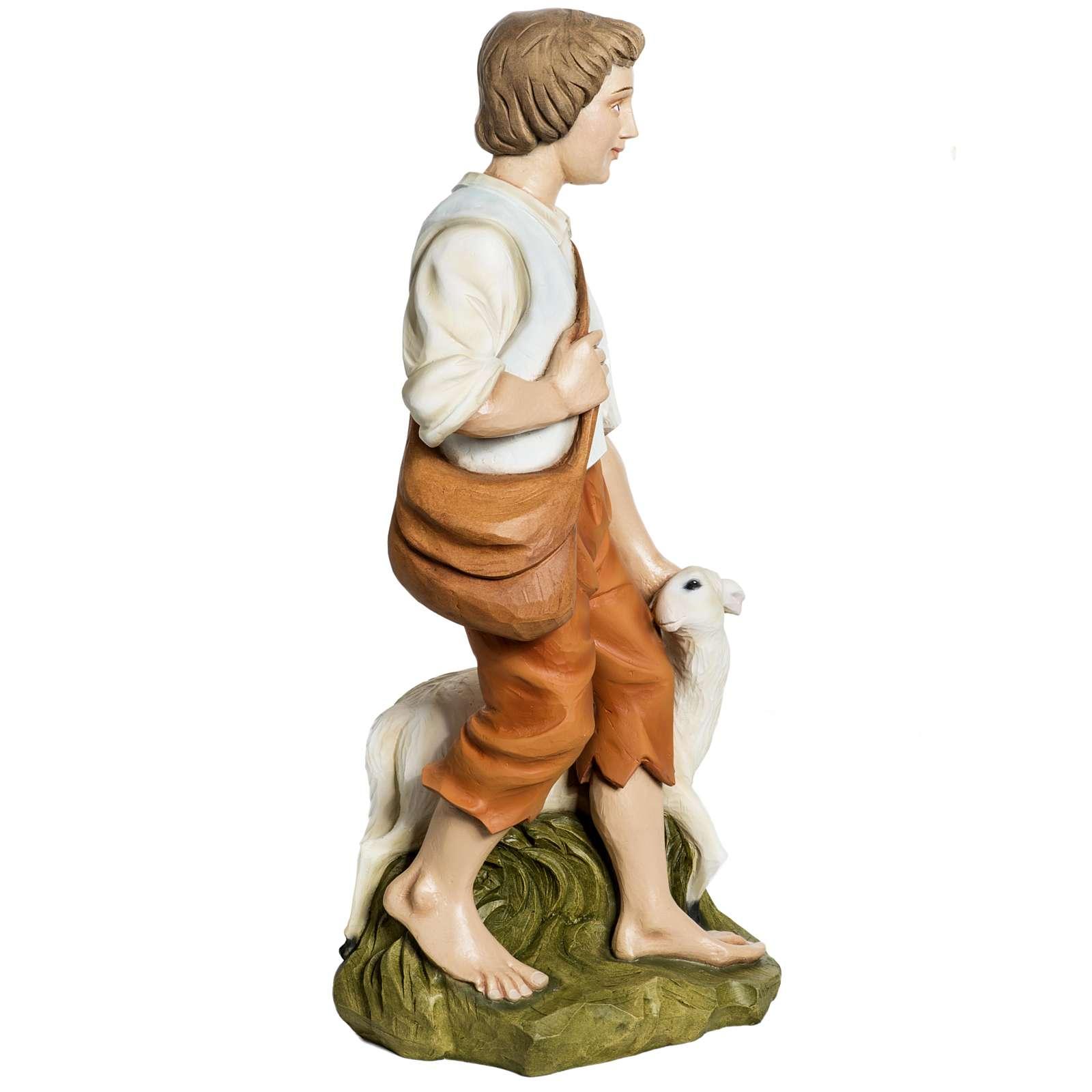 Fiberglas Schäfer mit Schaf 60 cm 4