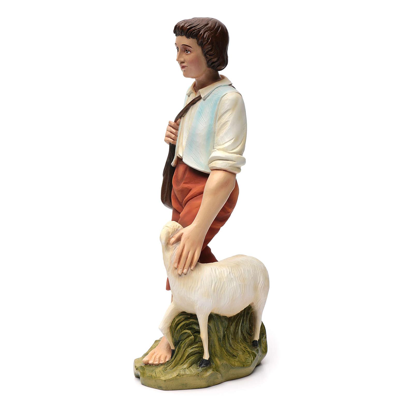 Berger avec mouton crèche Noel 60 cm fibre de verre 4