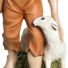 Berger avec mouton crèche Noel 60 cm fibre de verre s3