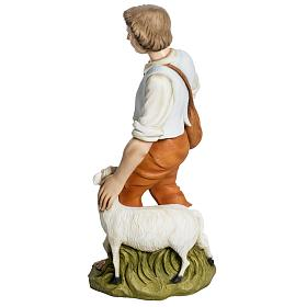 Berger avec mouton crèche Noel 60 cm fibre de verre s7