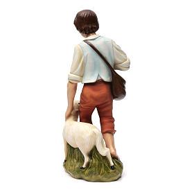Berger avec mouton crèche Noel 60 cm fibre de verre s10