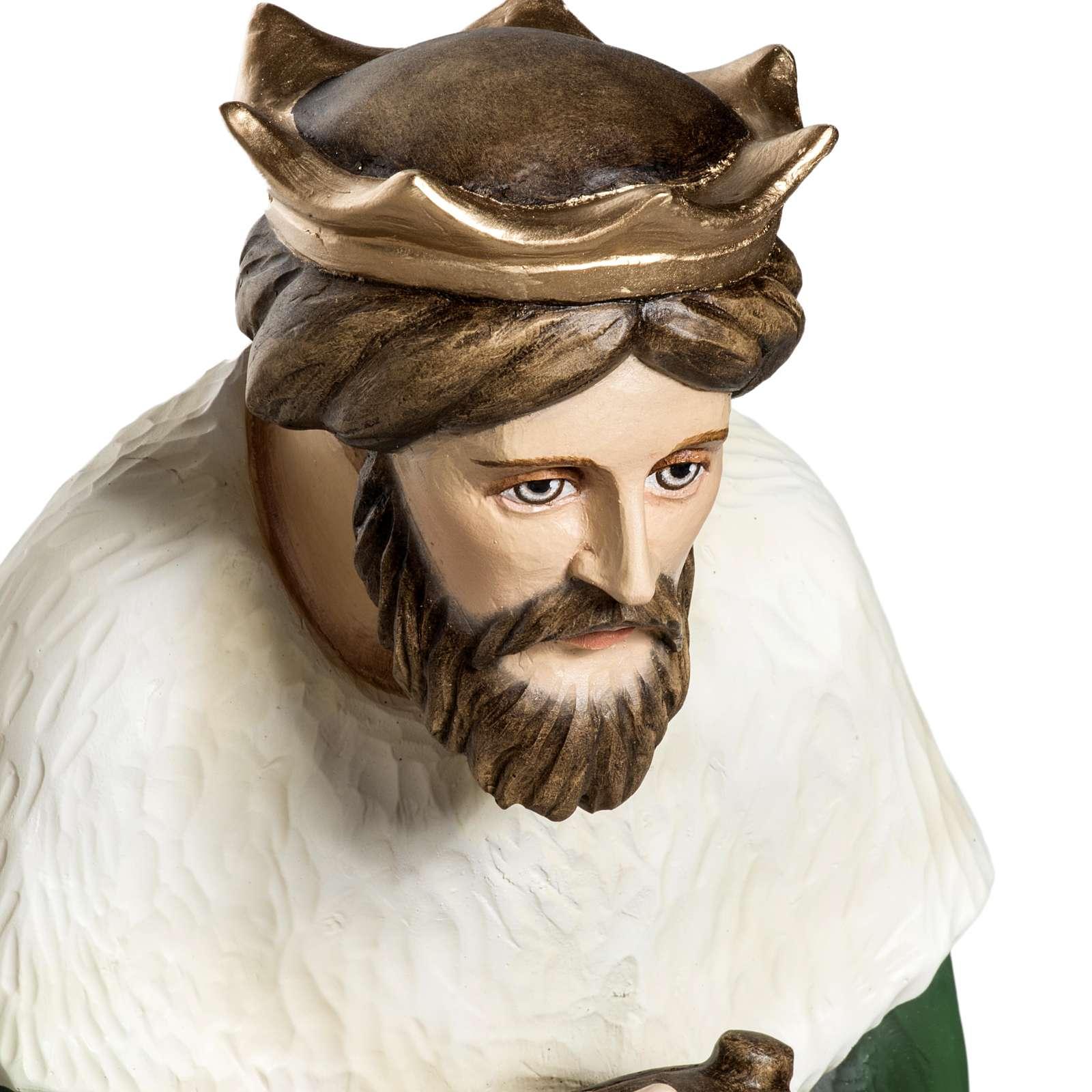 Los Tres Reyes Magos 60 cm en fibra de vidrio 4