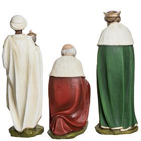 Los Tres Reyes Magos 60 cm en fibra de vidrio s11