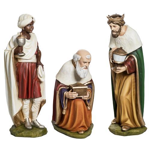 Los Tres Reyes Magos 60 cm en fibra de vidrio 1