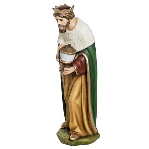 Los Tres Reyes Magos 60 cm en fibra de vidrio 9